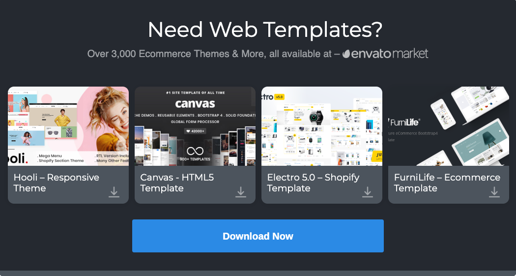 20+ Amazing Free Bootstrap eCommerce Website Template 2019